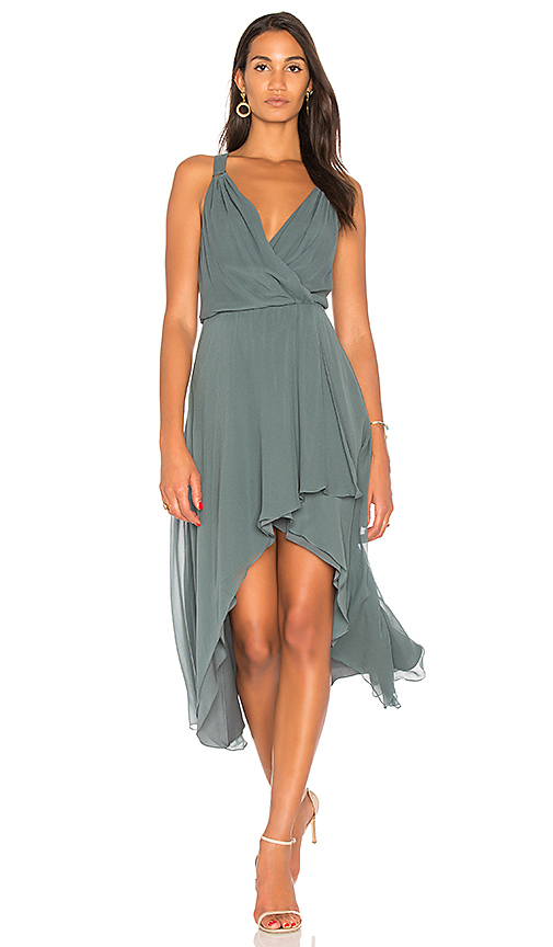 Haute Hippie Chase Wrap Dress in Slate