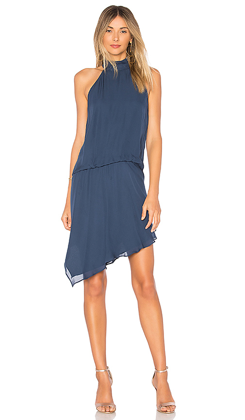 Haute Hippie Katherine Tuck Dress in Blue