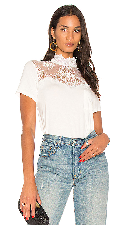 Haute Hippie Unrequited Love Tee in White