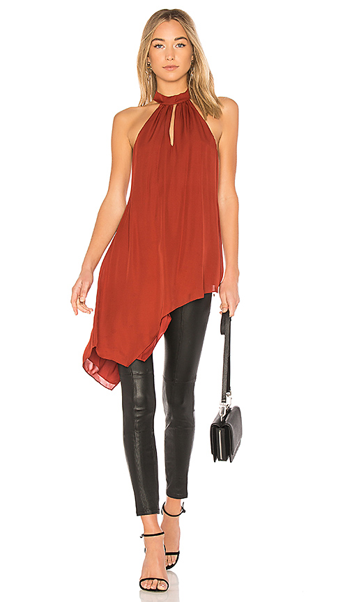 Haute Hippie Fly Away Wrap Top in Red
