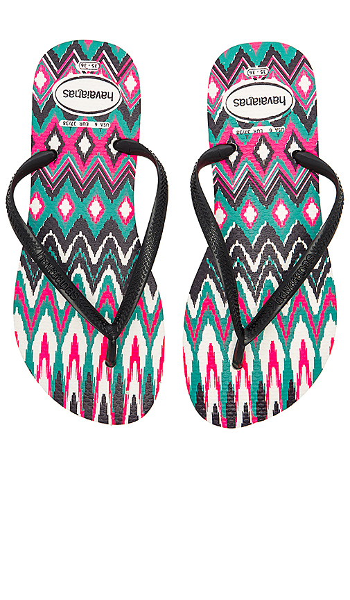 Havaianas Slim Tribal Sandal in Pink. - size US 7/8/ BRZ 37-38 (also in US 9/10/ BRZ 39-40)