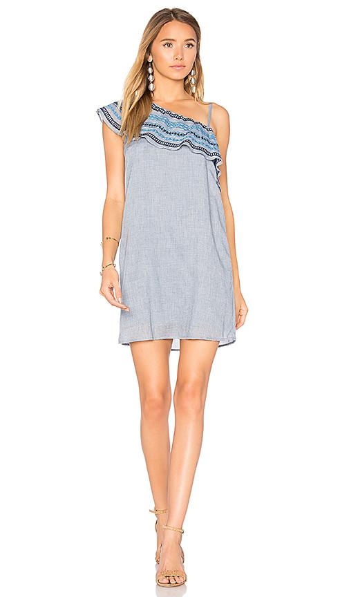 HEARTLOOM Bailey Dress in Blue. - size L (also in M,S,XS)