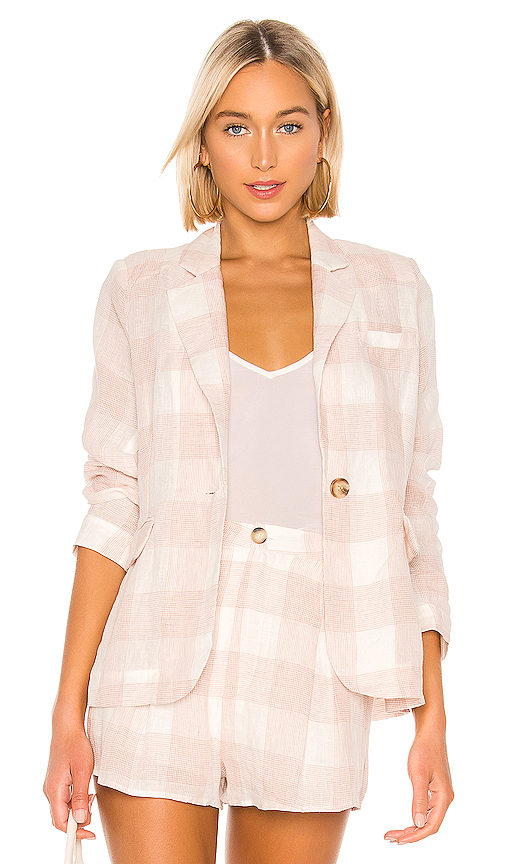 Heartloom HEARTLOOM ASHER BLAZER IN BLUSH.