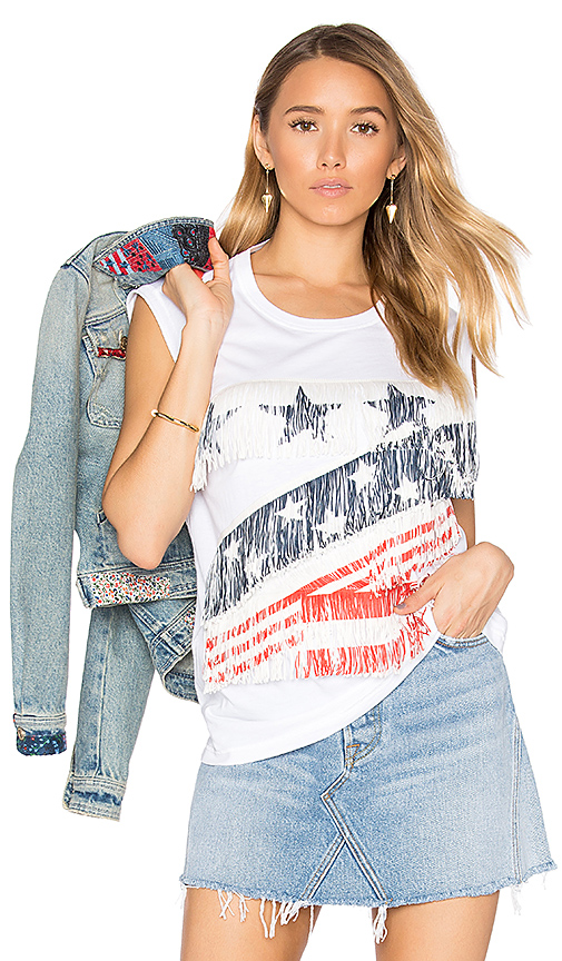 Hilfiger Collection American Graphic T-Shirt in White