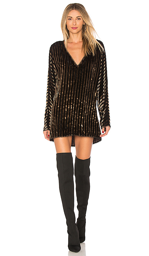 House of Harlow 1960 x REVOLVE Lizette Dress in Metallic Bronze. Size S,XS,M.
