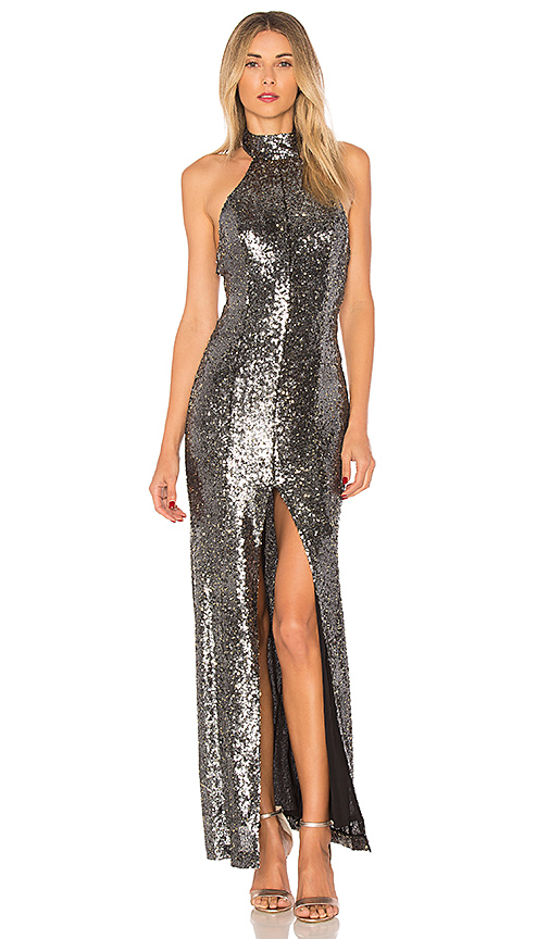 House of Harlow 1960 x REVOLVE Diana Maxi in Metallic Silver. - size XS (also in L,M,S,XL)