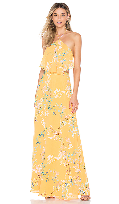 House of Harlow 1960 x REVOLVE Zoe Halter Maxi in Yellow
