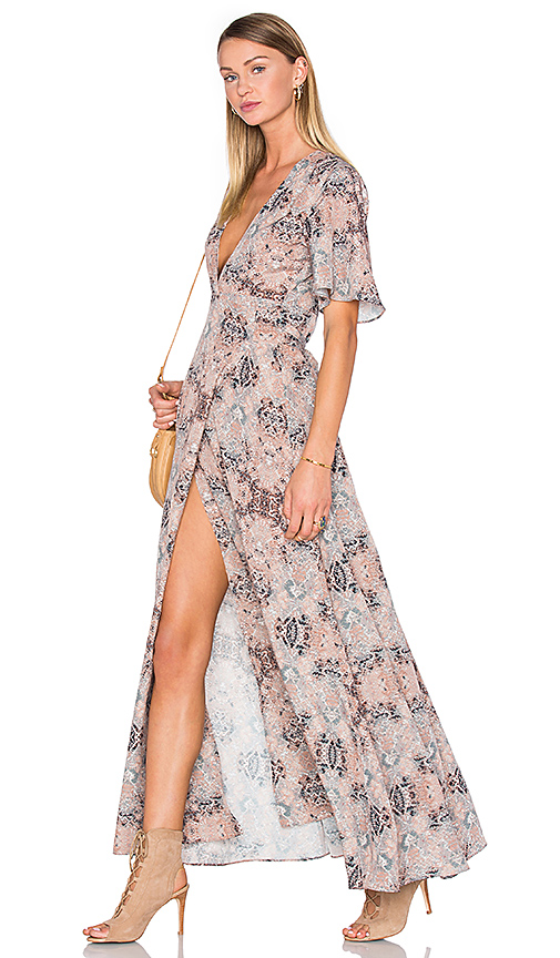 House of Harlow 1960 x REVOLVE Blaire Wrap Maxi in Taupe
