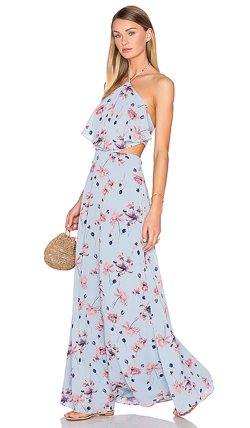 House of Harlow 1960 x REVOLVE Zoe Halter Maxi in Blue