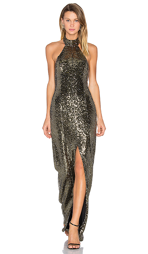 House of Harlow 1960 x REVOLVE Diana Maxi in Metallic Gold
