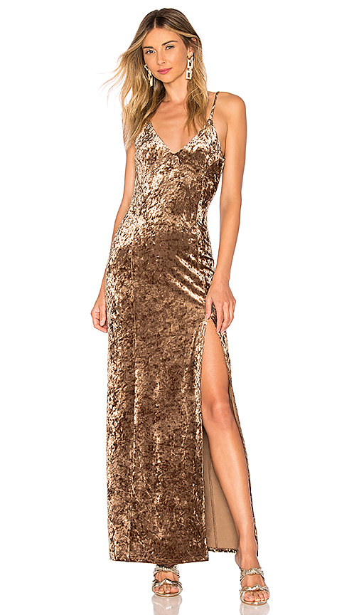 House of Harlow 1960 x REVOLVE Shari Dress in Metallic Bronze. Size XS,M,L,XL.