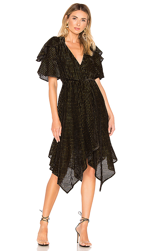 House of Harlow 1960 x REVOLVE Cecilio Dress in Black. Size XXS,XS,M.