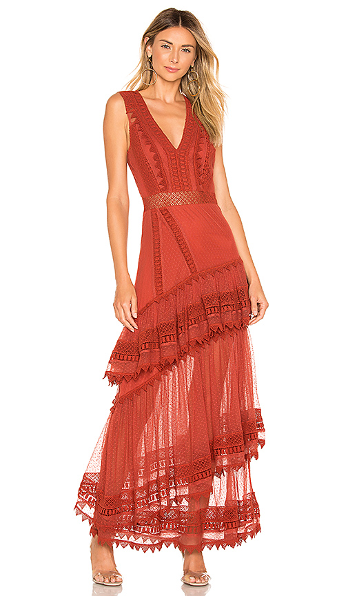 2faf424669 House of Harlow 1960 X REVOLVE Valence Dress in Rust.