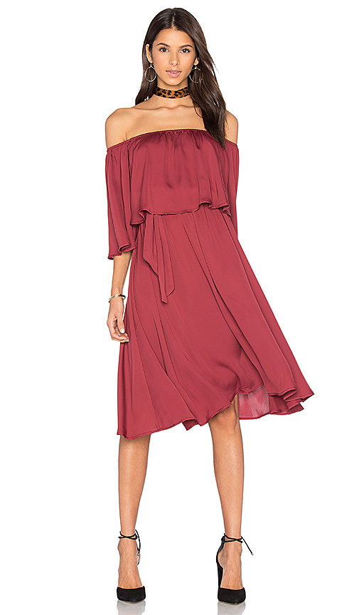 House of Harlow 1960 x REVOLVE Cindy Dress in Burgundy