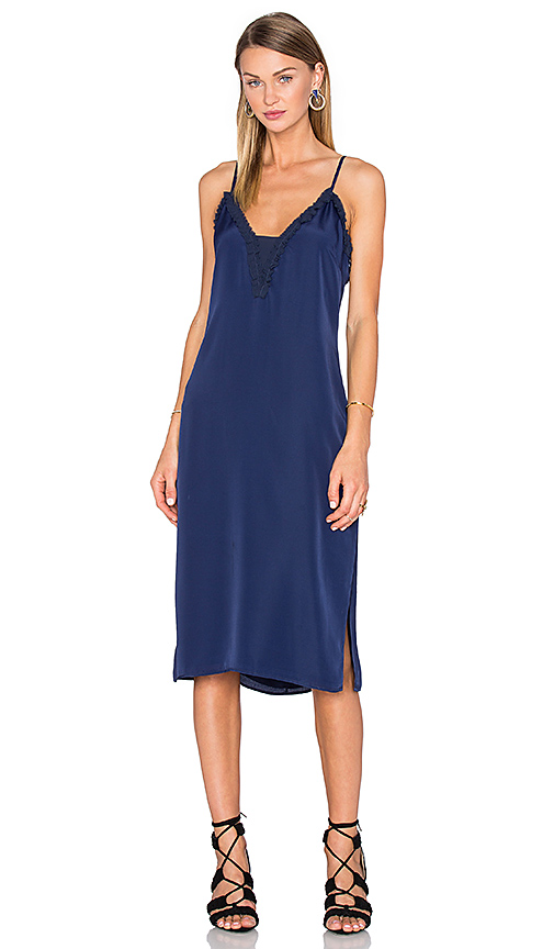 Photo of House of Harlow 1960 x REVOLVE Stella Deep V Slip Dress in Navy - shop House of Harlow dresses sales