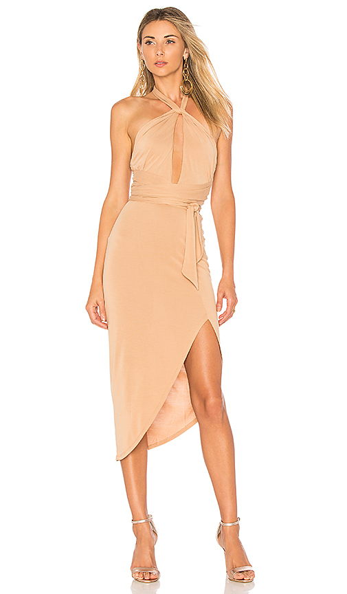 Photo of House of Harlow 1960 x REVOLVE Loretta Dress in Tan - shop House of Harlow dresses sales