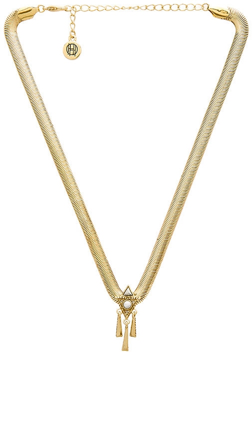 House of Harlow 1960 House of Harlow Tribal Choker Necklace in Metallic Gold