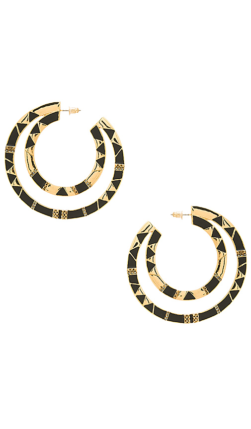 House of Harlow 1960 Nelli Large Hoop Earring in Metallic Gold
