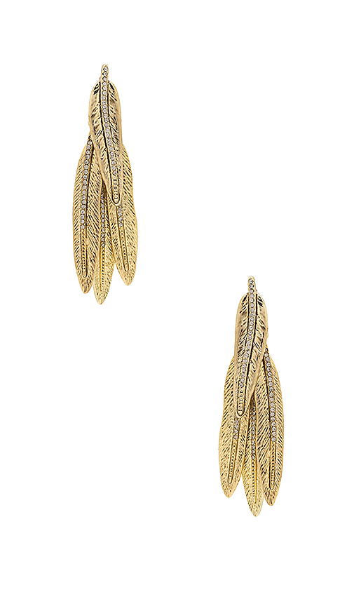 House of Harlow 1960 Cedro Dangle Earrings in Metallic Gold