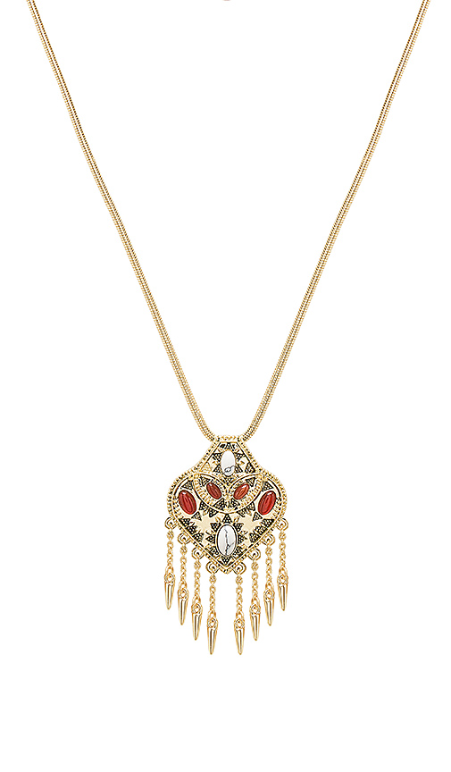 House of Harlow 1960 Montezuma Small Pendant Necklace in Metallic Gold