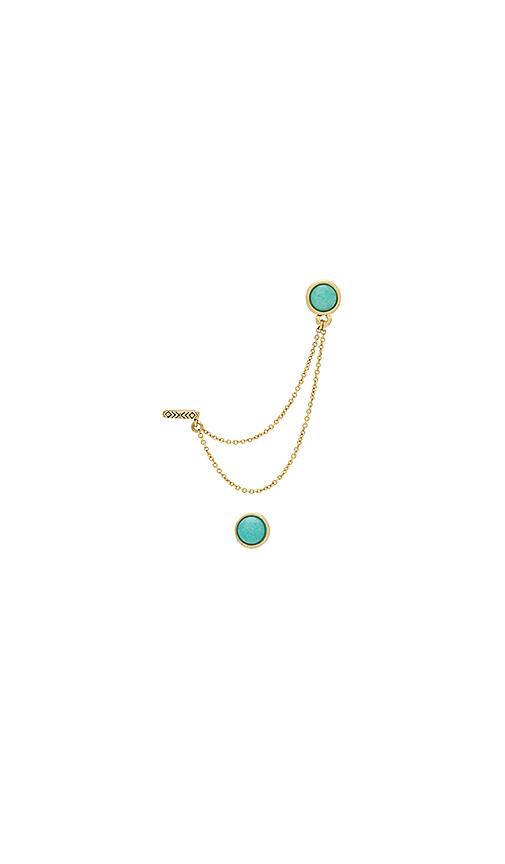 House of Harlow 1960 Nuri Dangle Earring Set in Metallic Gold