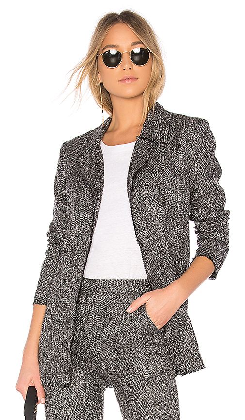 House of Harlow 1960 x REVOLVE Cooper Jacket in Gray. - size L (also in M,S,XL, XS, XXS)