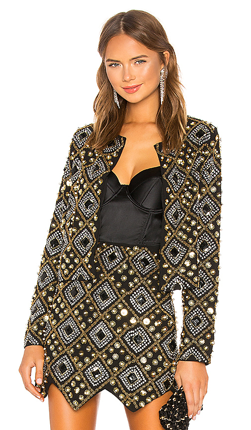 House of Harlow 1960 x REVOLVE Phyllis Jacket in Black. Size XXS.