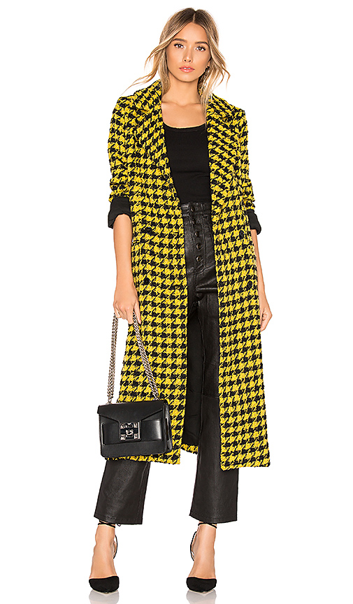 House of Harlow 1960 X REVOLVE Perry Coat in Yellow. Size XS,S,M.
