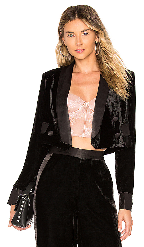 House of Harlow 1960 X REVOLVE Emil Jacket in Black. Size M.