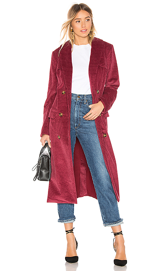 House of Harlow 1960 x REVOLVE Filippa Trench in Wine. Size XS,S,M.