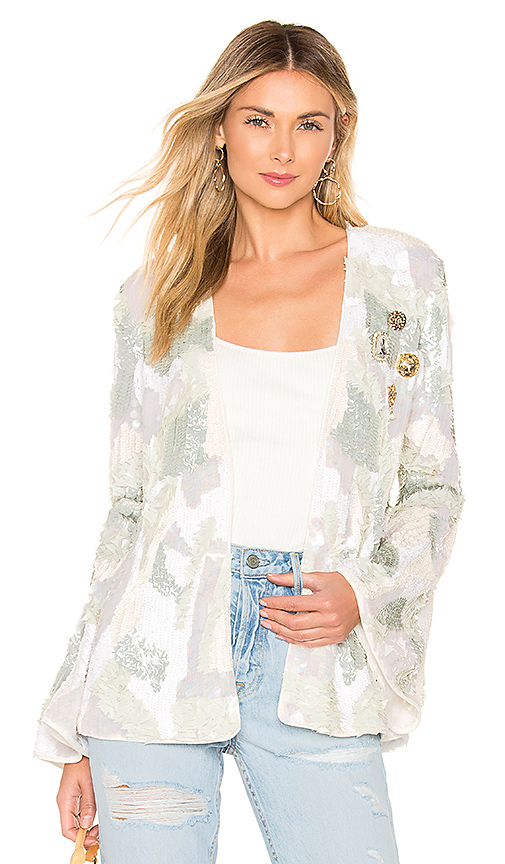 House of Harlow 1960 x REVOLVE Jolie Embellished Jacket in White. Size S,M.