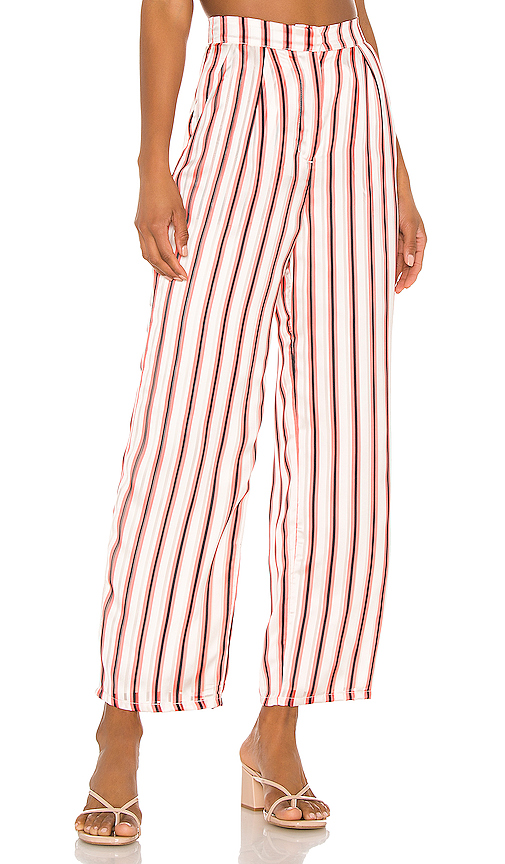 House Of Harlow 1960 X Revolve Alessia Pant In White. In Red Pop Stripe