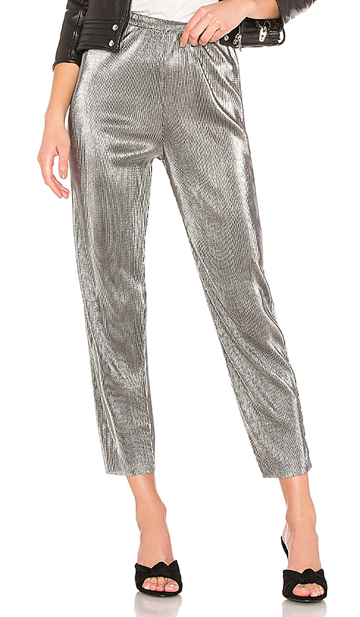 House of Harlow 1960 x REVOLVE Kate Pant in Metallic Silver. Size S,M.