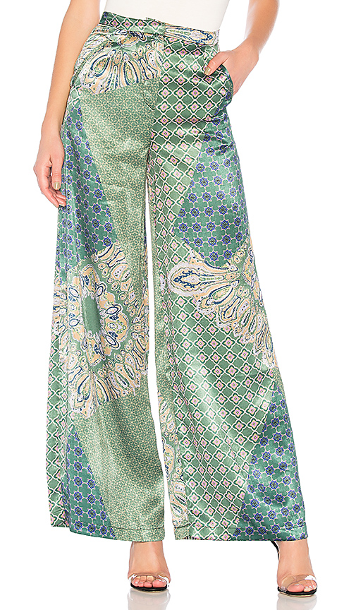 House of Harlow 1960 x REVOLVE Des Pant in Green. Size XS,S.