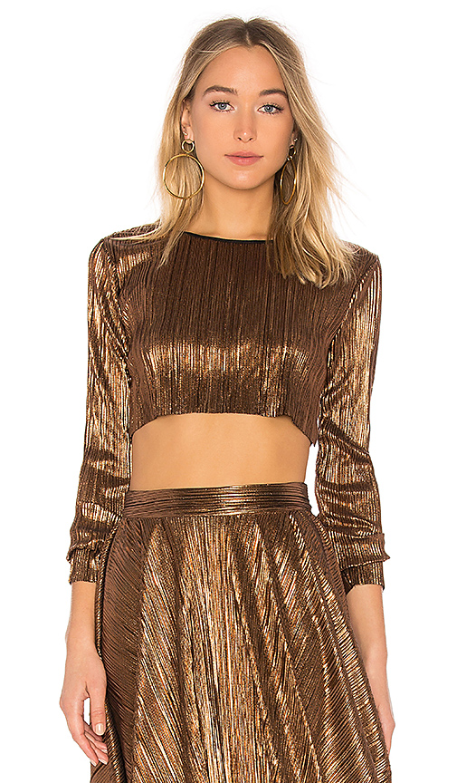 House of Harlow 1960 x REVOLVE Joyce Top in Metallic Gold