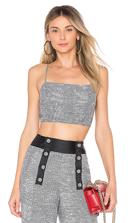 House of Harlow 1960 x REVOLVE Mademoiselle Top in Gray