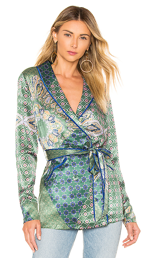House of Harlow 1960 x REVOLVE Arthur Top in Green. Size XS,S.