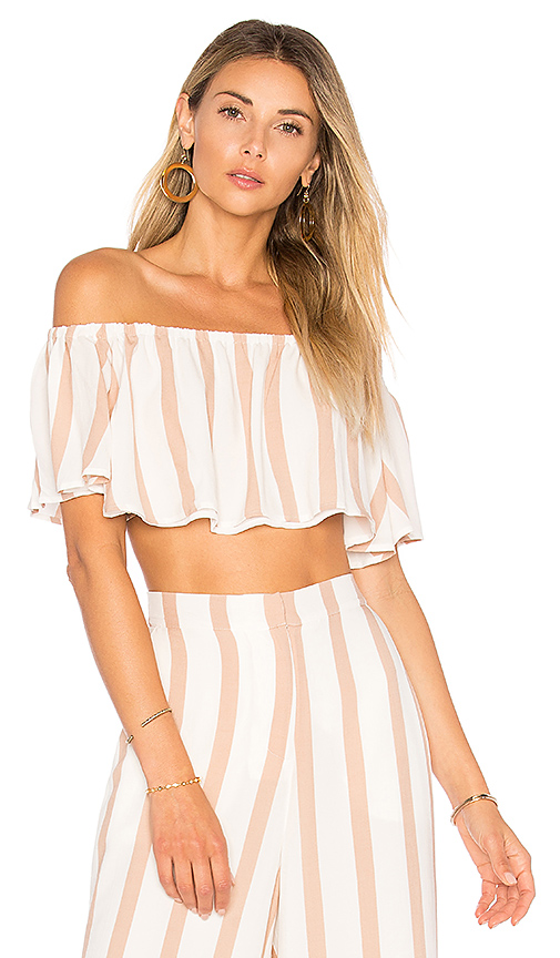 House of Harlow 1960 X REVOLVE Bree Crop Top in Beige