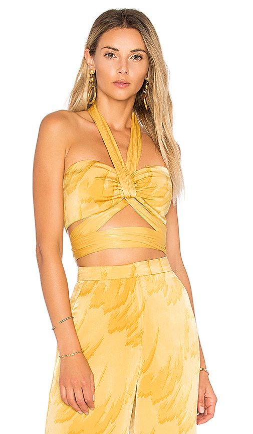 House of Harlow 1960 x REVOLVE Tammy Top in Yellow. - size L (also in M)