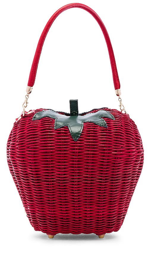 House of Harlow 1960 X REVOLVE Rouge Basket Bag in Red.