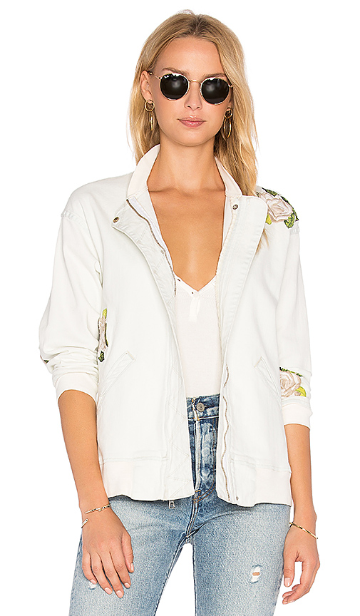 Hudson Jeans Varsity Embroidered Jacket