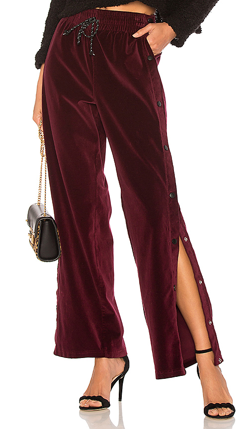 Hudson Jeans Aria Track Pant in Wine. - size L (also in M,S,XS)