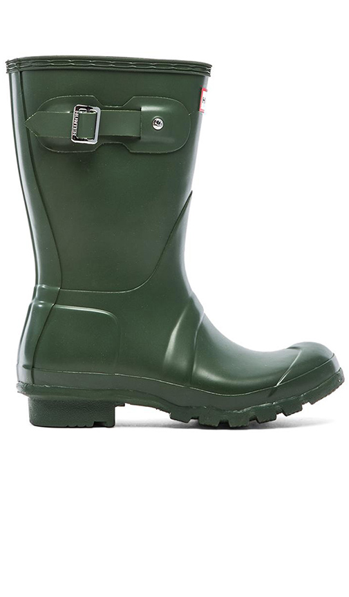 Hunter Original Short Rain Boot in Dark Green