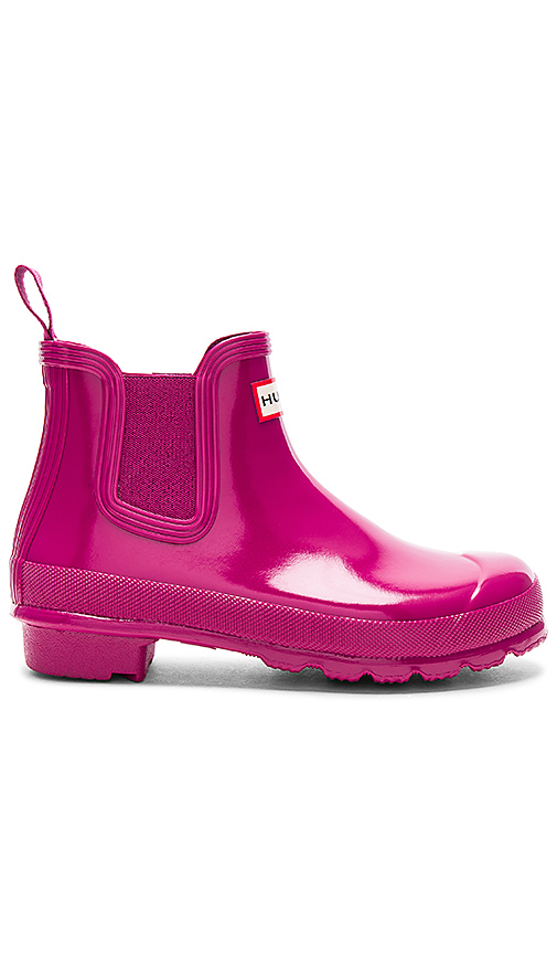 Hunter Original Chelsea Gloss One Tab Boot in Fuchsia