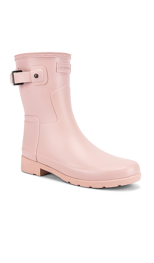 Hunter Refined Short Matte Boot in Pink