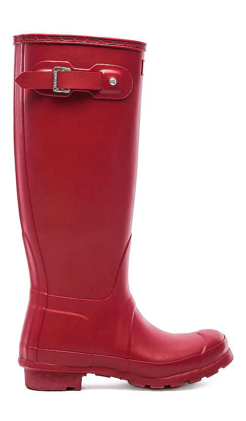 Hunter Original Tall Rain Boot in Red