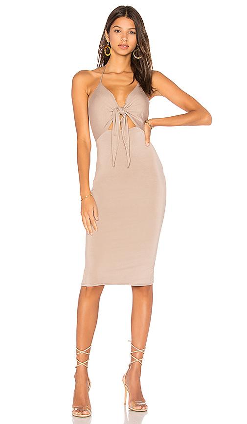 h:ours Georgina Dress in Neutral