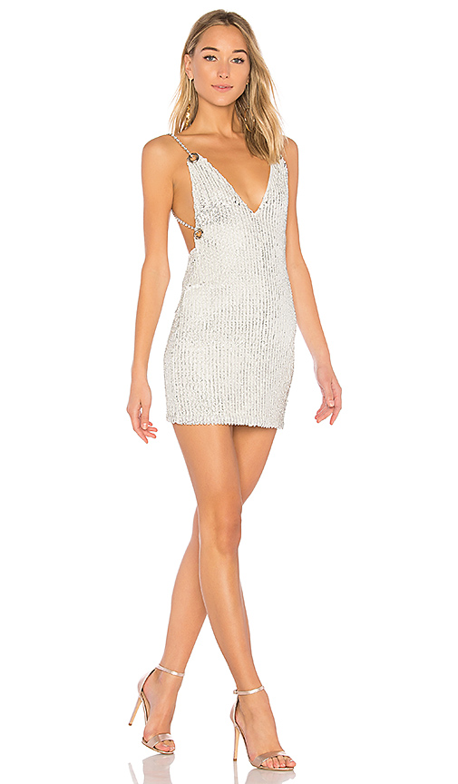 h:ours x REVOLVE Aveline Sequin Dress in White. - size L (also in M,S)