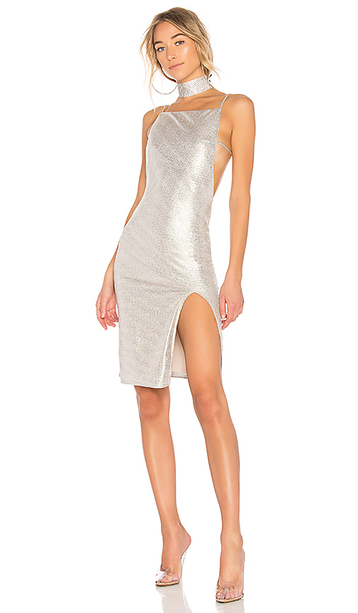 h:ours x REVOLVE Murphy Dress in Metallic Gold