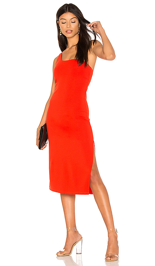 h:ours Savanah Dress in Red. - size L (also in M,S,XL, XS)